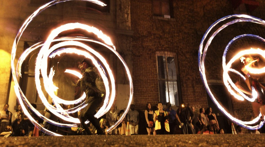 My First Experience Photographing Fire Spinners